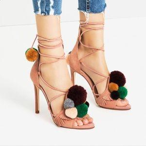 Zara Pom Pom Heels